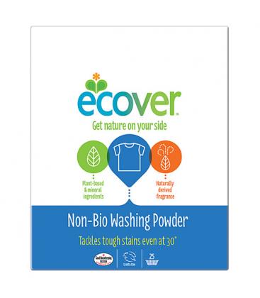 Σκόνη Πλυντηρίου για Λευκά & Χρωματιστά non-bio 1.9kgr, Ecover