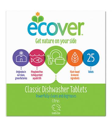Ταμπλέτες Πλυντηρίου Πιάτων 25 ταμπλέτες, Ecover