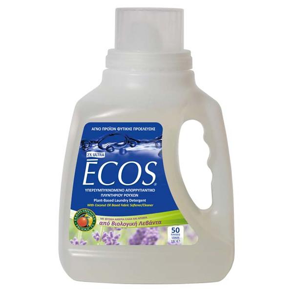 Βιολογικό Υγρό Πλυντηρίου Ρούχων με Bio Λεβάντα 1.5lt, Ελληνικό, Ecos - Earth Friendly
