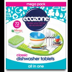 Ταμπλέτες Πλυντηρίου Πιάτων 72 τεμάχια, Ecozone