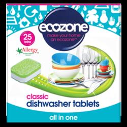 Ταμπλέτες Πλυντηρίου Πιάτων 25 τεμάχια, Ecozone