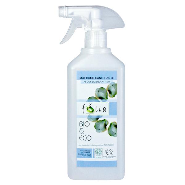 Βιολογικό Απολυμαντικό Μπάνιου Χωρίς Χλώριο Spray Bio 0.5lt, Folia