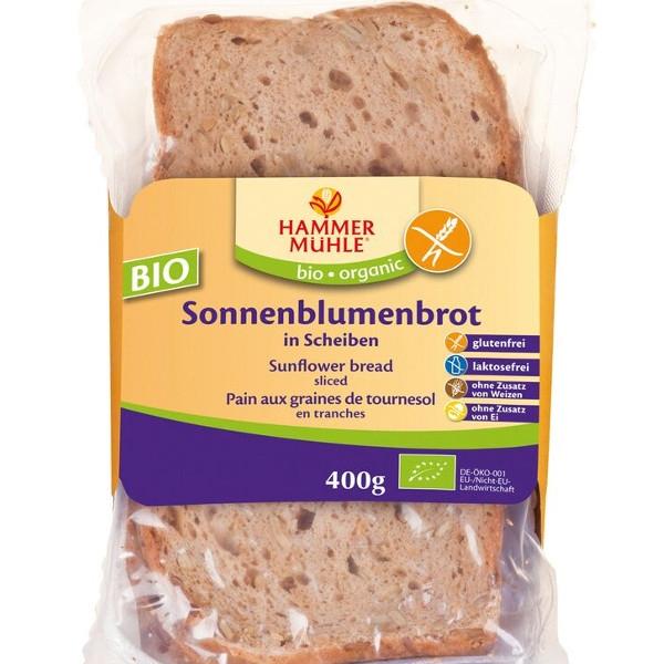 Βιολογικό Ψωμί Ηλιόσπορου Φέτες Χωρίς Γλουτένη Bio 400γρ., Hammermuehle