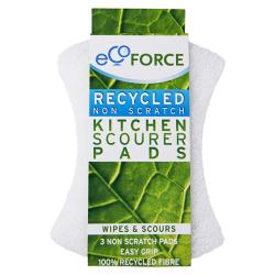 Σφουγγάρι Κουζίνας Απαλό 3 τεμάχια, Ecoforce