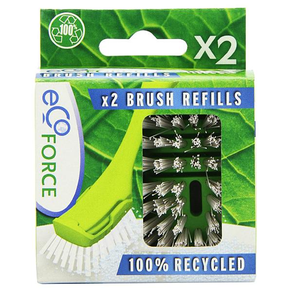 Ανταλλακτικά Βούρτσας Πιάτων Ανακυκλώσιμα 2 τεμάχια, Ecoforce