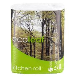 Xαρτί Kουζίνας τρίφυλλο 2 ρολλά, Ecoleaf