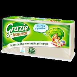 Χαρτοπετσέτες 33x33 200φύλλα, Grazie Natural Lucart