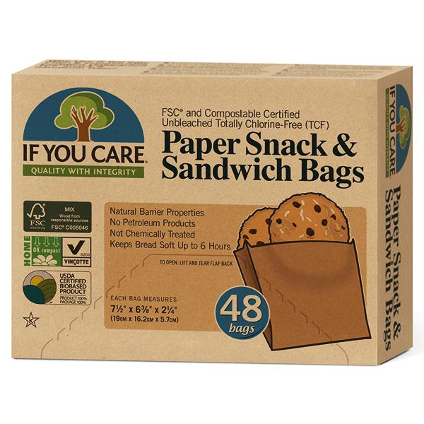 Xάρτινες Σακούλες Τροφίμων 48 τεμάχια, If You Care