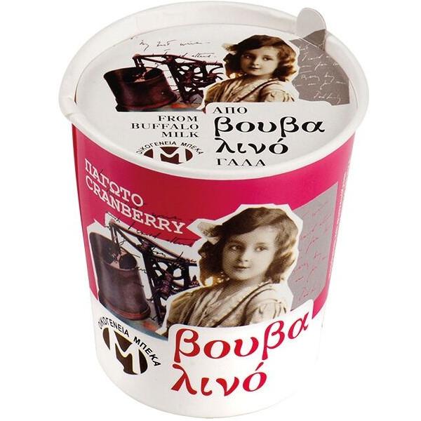 Παγωτό Κράνμπερυ από Βουβαλίσιο Γάλα 100γρ., Ελληνικό, Οικογένεια Μπέκα