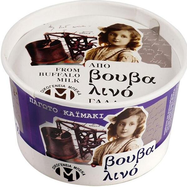Παγωτό Καϊμάκι από Βουβαλίσιο Γάλα 400γρ., Ελληνικό, Οικογένεια Μπέκα