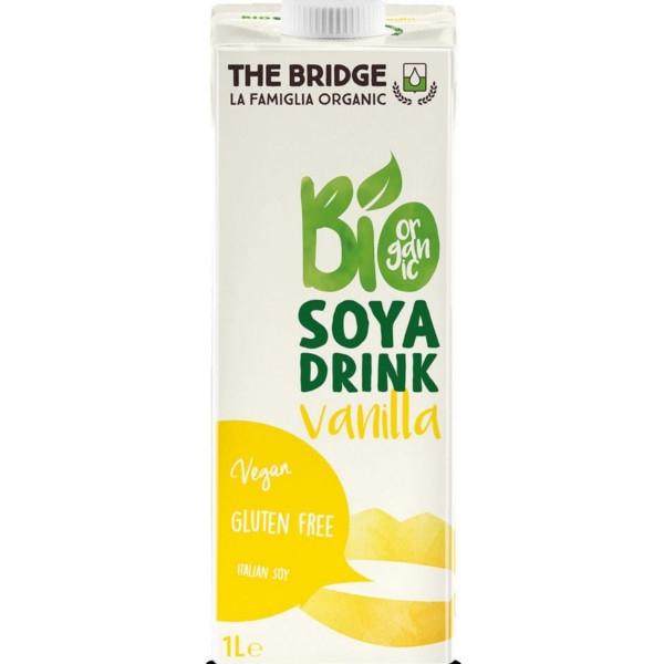 Βιολογικό Ρόφημα Σόγιας με Βανίλια 1lt Bio The Bridge