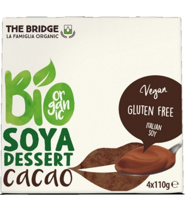 Βιολογικό Επιδόρπιο Σόγιας με Σοκολάτα 4Χ110ml Bio The Bridge
