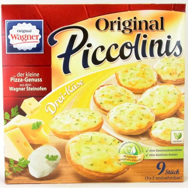 Βιολογική Πίτσα Piccolinis με 3 Τυριά 270γρ. Bio, Original Wagner Pizza
