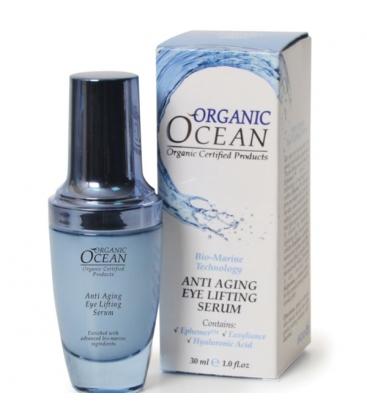 Βιολογικό Aντιρυτιδικό Serum Ματιών Anti Aging 30ml, Organic Ocean