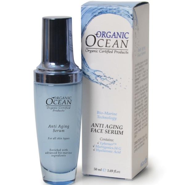 Βιολογικό Aντιρυτιδικό Serum Προσώπου Anti Aging 50ml, Organic Ocean