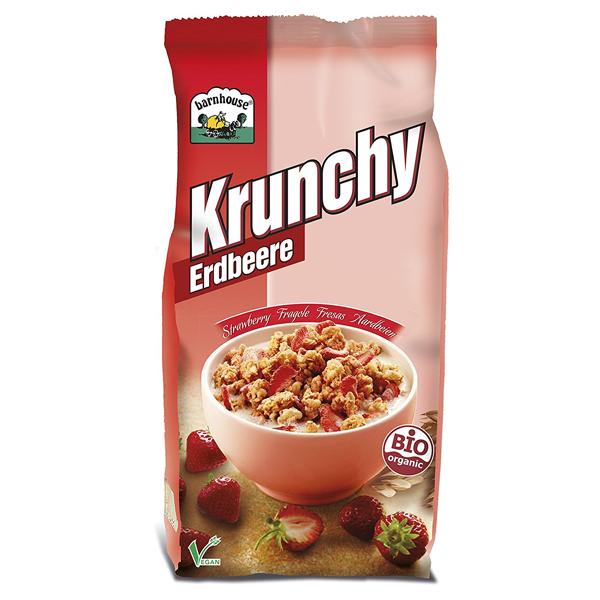 Δημητριακά Krunchy με Φράουλα 375γρ., Barnhouse