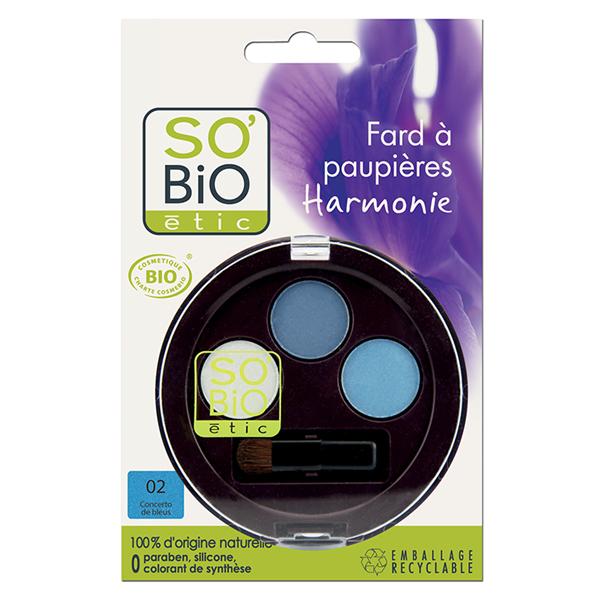 Βιολογική Τριπλή Σκιά Ματιών 02 Γαλάζιο Κονσέρτο 1,8γρ., So Bio