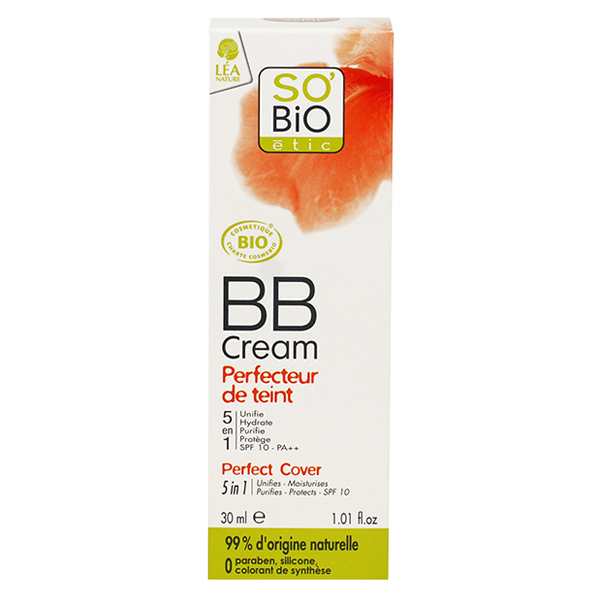 Βιολογικό BB cream So Bio Perfecteur du teint 02 Beige Eclat 30ml, So Bio