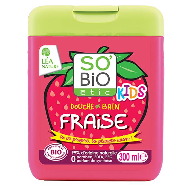 Βιολογικό Αφρόλουτρο Kids Φράουλα 300ml, So Bio