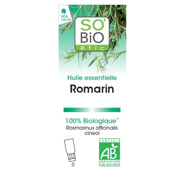 Βιολογικό Αιθέριο Έλαιο Δεντρολίβανο 15ml, So Bio