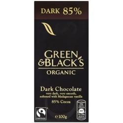 Βιολογική Σκούρη Σοκολάτα με 85% Κακάο Bio 90γρ., Green & Blacks