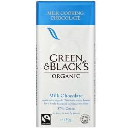 Βιολογική Σοκολάτα Γάλακτος Ζαχαροπλαστικής Bio 150γρ., Green & Blacks