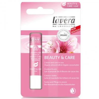 Lavera Lip Balm Soft Rose 4,5G Bio, Βιολογικό
