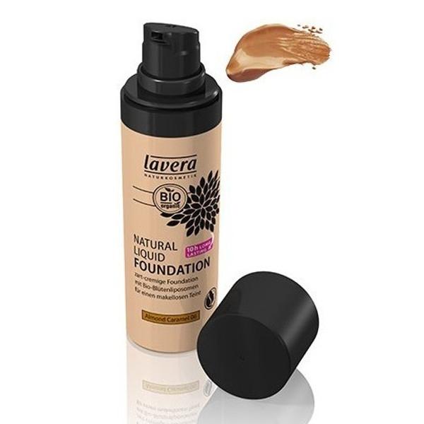 Βιολογικό Φυσικό Yγρό Make-up Nο6 Almond Caramel 30ml, Lavera