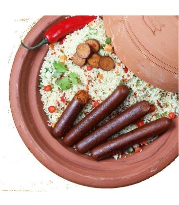 Βιολογικό Λουκάνικο Χορτοφαγικό Πικάντικο Τύπου Merguez Bio 130γρ., Veggyness