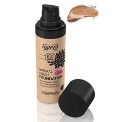 Βιολογικό Φυσικό Yγρό Make-up Nο3 Honey Sand 30ml, Lavera