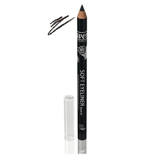 Βιολογικό Μολύβι Ματιών Soft Eyeliner Μαύρο No1, Lavera