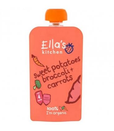 Βιολογικός Πολτός Γλυκοπατάτα Μπρόκολο & Καρότο Bio 120γρ., Ella's Kitchen