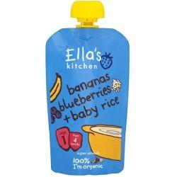 Βιολογικός Πολτός Μπανάνα, Μύρτιλλα & Ρύζι Bio 120γρ., Ella's Kitchen