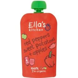 Βιολογικός Πολτός Kόκκινη Πιπεριά, Γλυκοπατάτα & Μήλο Bio 120γρ., Ella's Kitchen