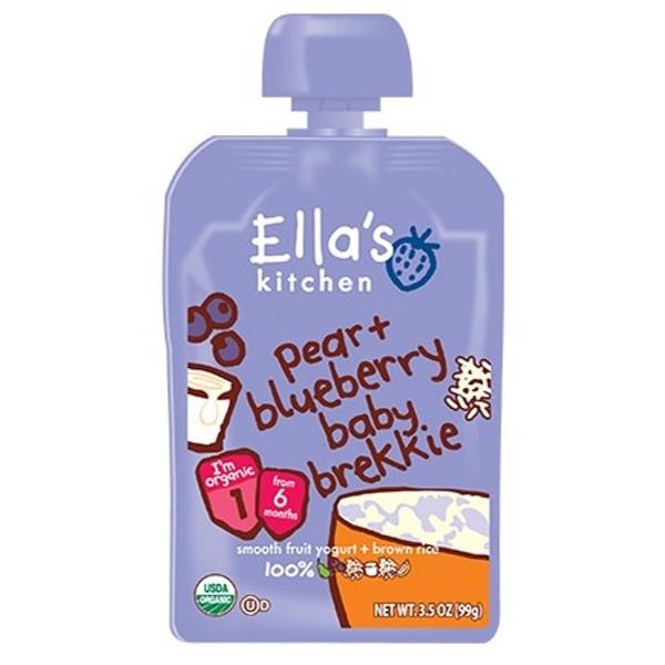 Βιολογικός Πολτός Aχλάδι & Βατόμουρα Bio 99γρ., Ella's Kitchen