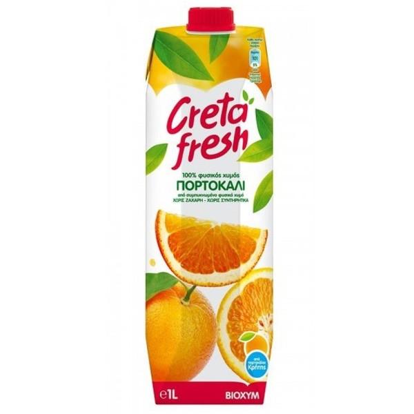 Χυμός Πορτοκάλι Κρήτης Φυσικός 100% 1lt Creta Fresh, Ελληνικός, Βιοχυμ