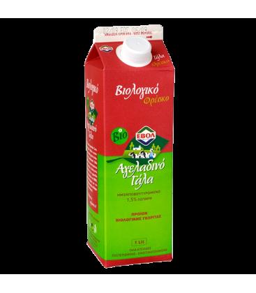 Βιολογικό Αγελαδινό Γάλα 1,5% 1lt Bio, Ελληνικό, Εβόλ