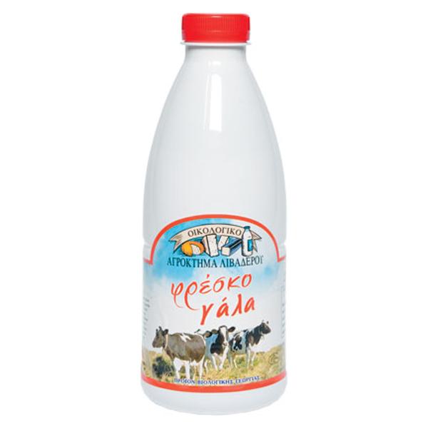 Βιολογικό Φρέσκο Αγελαδινό Γάλα 1 λίτρο, Ελληνικό, Οικολογικό Αγρόκτημα Λειβαδερού