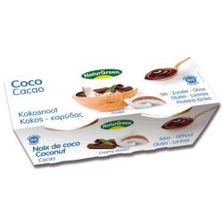 Βιολογικό Επιδόρπιο Καρύδας Κακάο 2x125γρ., Naturgreen