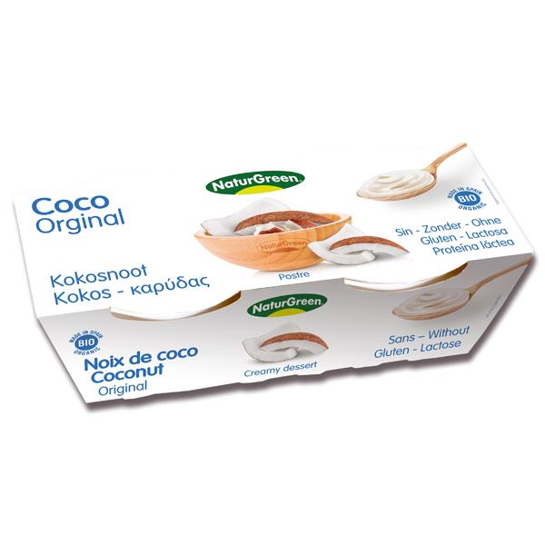 Βιολογικό Επιδόρπιο Καρύδας με Ανανά Bio 2x125γρ., Naturgreen