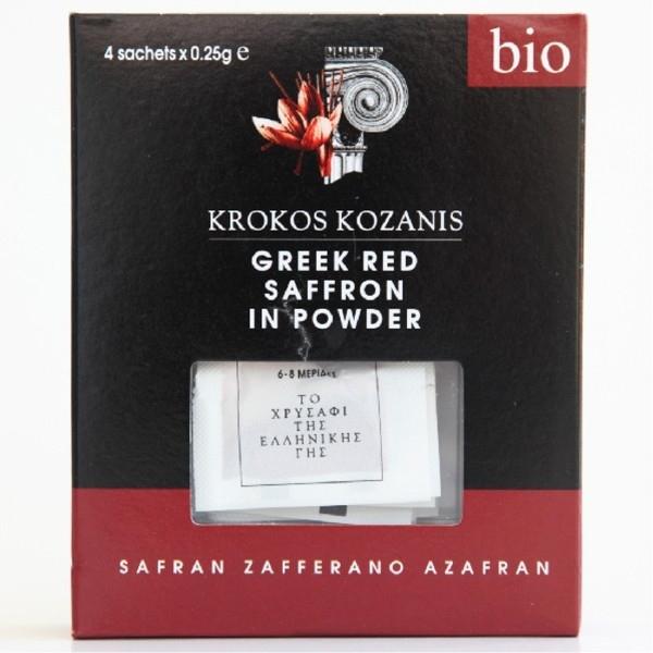 Βιολογικός Κρόκος Κοζάνης σε Σκόνη Bio 1γρ., Ελληνικός, Brand