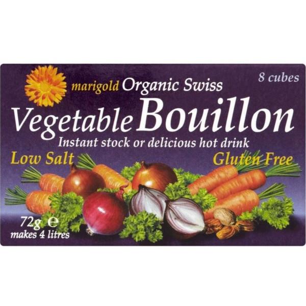 Βιολογικοί Κύβοι Λαχανικών Χαμηλής Περιεκτικότητας σε Αλάτι Bio 8 τεμάχια, Marigold