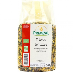 Βιολογικές Φακές Τρίχρωμες Bio 500γρ., Primeal