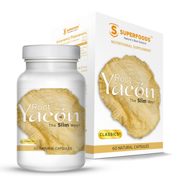 Ρίζα Yacon. The slim way 60 κάψουλες, Superfoods