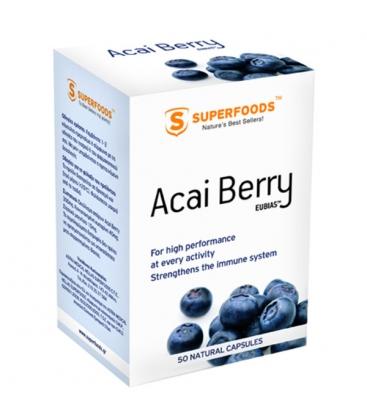 Acai Βerry 300mg 50 Κάψουλες, Superfoods