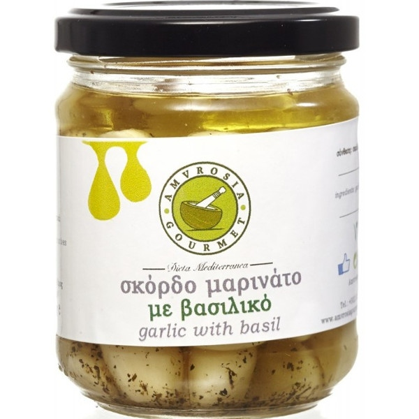 Σκόρδο Σκελίδα με Βασιλικό 170γρ., Ελληνικό, Amvrosia Gourmet
