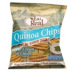 Τσιπς Κινόα με Ξινή Κρέμα & Σχοινόπρασο 30γρ. Eat Free, Eat Real