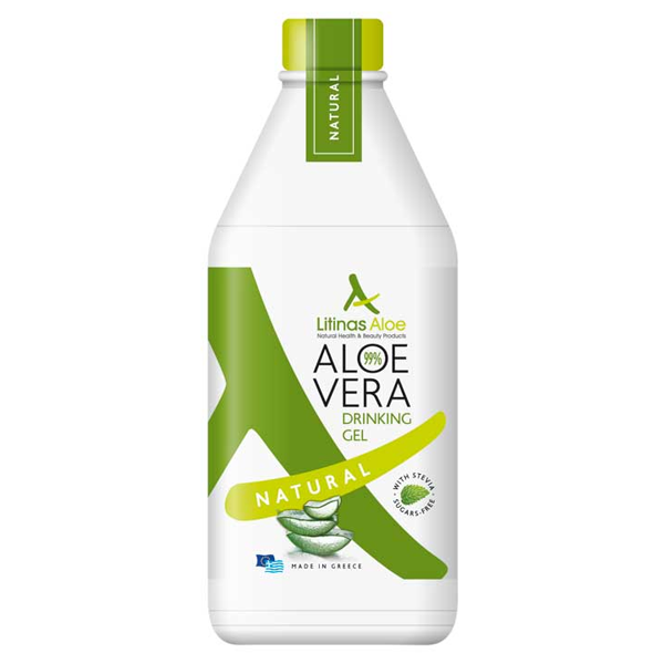 Βιολογικός Χυμός Τζελ Αλόης Φυσική Γεύση 500ml, Ελληνικός, Litinas Aloe