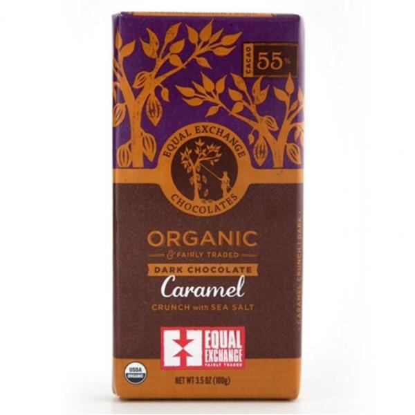 Βιολογική Σοκολάτα Υγείας 55% με Καραμέλα & Θαλασσινό Αλάτι Bio 100γρ., Equal Exchange