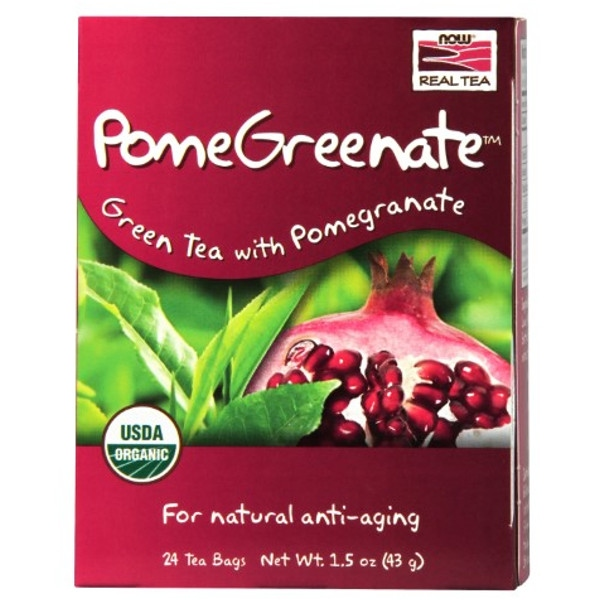 Βιολογικό Pomegreenate Organic - 24 Tea Bags, Now Real Tea